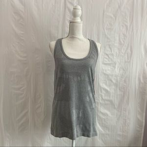 New Balance Gray Camo Texture Athletic Tank Top